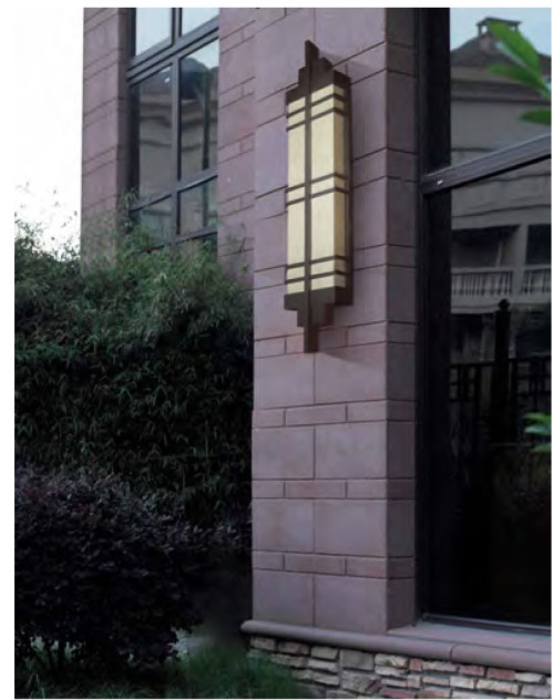 vintage wall light custom non-standard outdoor decoration wall mounted light wall luminaires CREE Bridgelux SMD LED T5 classical style aluminum/stainless steel PMMA/scagliola diffuser long shape WD-B195