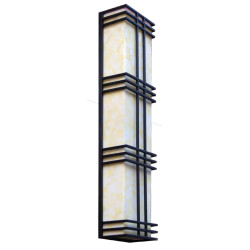vintage wall light custom non-standard outdoor decoration wall mounted light wall luminaires CREE Bridgelux SMD LED T5 classical style aluminum/stainless steel PMMA/scagliola diffuser long shape WD-B035
