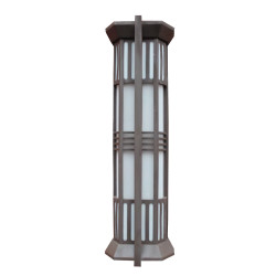 TFB Wall lamp  custom non-standard outdoor decoration wall mounted light CREE Bridgelux SMD LED T5 european style  aluminum/stainless steel PMMA/scagliola diffuser cylinder-shaped W320*H1050mm WD-B261