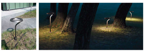 Lawn lamp Bollard light round head concise style WD-C276