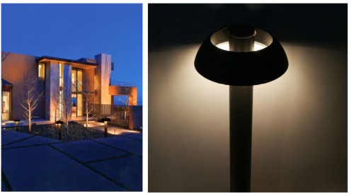 Lawn lamp Bollard light mushroom light head modern design concise style φ190*H700mm LED module 6W/9W/12W WD-C073
