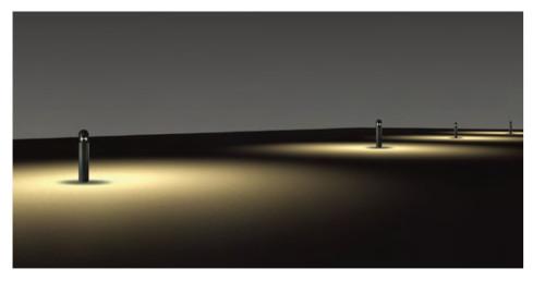 Bollard light Lawn Light Cyliner with cap LED module 6W/9W/12W CFL E27 13W/18W/23W WD-C009