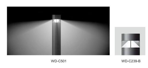 Lawn lamp cool cylinder bollard light custom outdoor lights LED module 6W/9W/12W COB LED 10W/20W CFL E27 16W φ180*H1000mm Fashion model hot-sales WD-C038