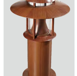 bollard light brown color modern design industrial style WD-C015 φ345*H600mm LED module 6W/9W/12W CFL E27 13W/18W