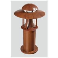 bollard light brown color modern design industrial style WD-C015 φ345*H600mm LED module 6W/9W/12W CFL E27 13W/18W