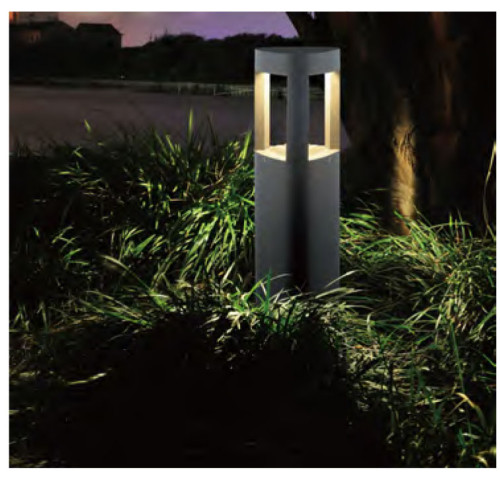 Lawn lamp bollard light triangle concise style LED module 5W/10W/15W W160*L178*H1350mm customized COB LED 5W/10W/20W