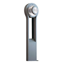 Lawn lamp bollard light popular modern concise design round head double-light out aluminum/stainless steel LED module 6W/9W/12W CFL E27 13W/16W/23 WD-C166