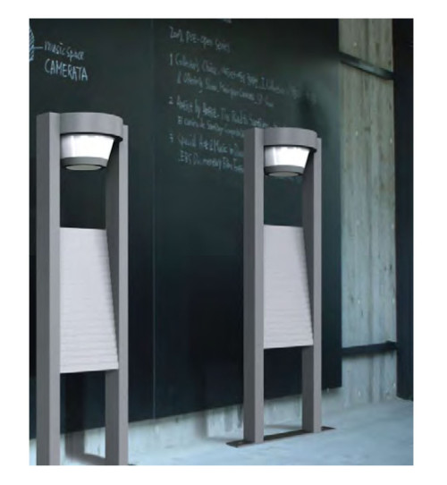 Lawn lamp bollard light popular modern design with indicator&billboard aluminum/stainless steel  LED module 9W/12W/18W CFL E27 13W/16W   WD-C168