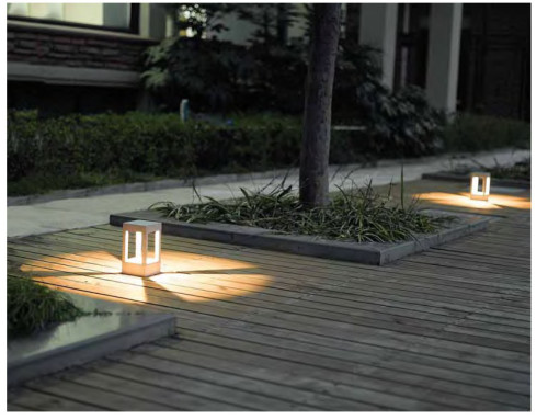 hot-sale bollard light W150*L150*H300mm modern simple concise design LED module 3W/6W/9W COB LED 5W/10W/20W WD-C240