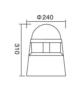 bollard light  φ240*H310mm modern style LED module 6W/9W/12W CFL E27 13W/16W φ240*H310mm aluminum+PMMA  WD-C108
