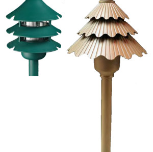 Lawn lamp Bollard light  pine tree imitation modern style LED module 3W Gree Coffe Color aluminum+PC/PMMA WD-C481/WD-C057