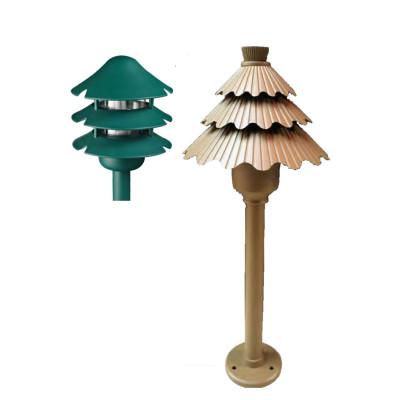 Lawn lamp Bollard light  pine tree imitation modern style LED module 3W Gree Coffe Color aluminum+PC/PMMA WD-C481/WD-C057