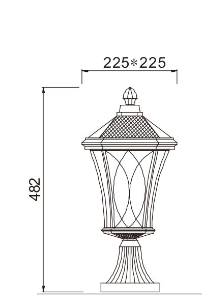 Lawn lamp bollard light middle age classic vetro style European   CFL E27 13W/16W/18W WD-C186