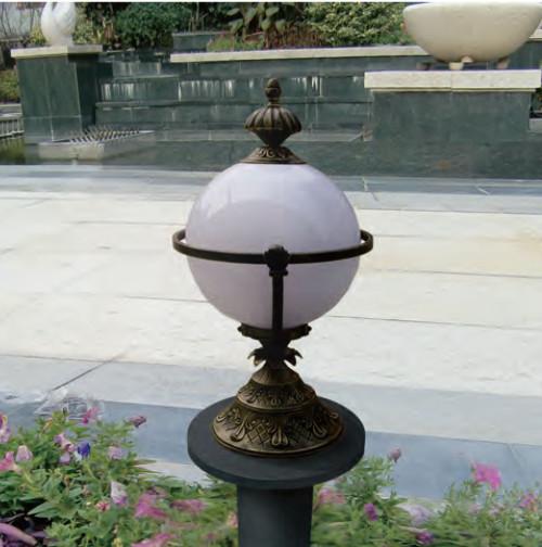 Lawn lamp bollard light luminaire φ450*H900mm Japanese classic retro style villa aluminum/stainless steel SMD LED module 5W/10W/15W CFL E27 16W/18W/23W aluminum/high-grade preservative wood WD-C199