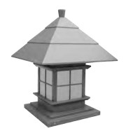 Lawn lamp bollard light luminaire W500*H500*H740mm Japanese classic retro style villa aluminum/stainless steel SMD LED module 5W/10W/15W CFL E27 16W/18W/23W imitation marble/PMMA WD-C301