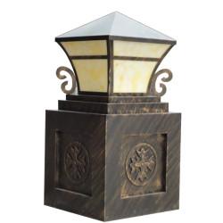 Lawn lamp bollard light luminaire W440*L440*H1045mm classic retro style villa aluminum/stainless steel SMD LED module 9W/12W/18W CFL E27 18W/23W/36W imitation marble/PMMA WD-C218