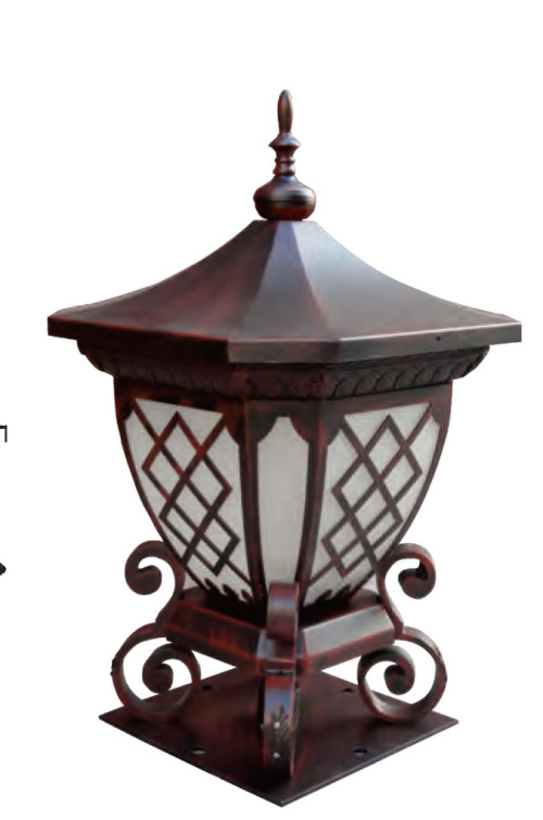 Bollard light luminaire W552*H897mm classic retro style villa aluminum/stainless steel SMD LED 3*8W CFL E27 23W/36W T5 3*14W imitation marble/PMMA WD-C366