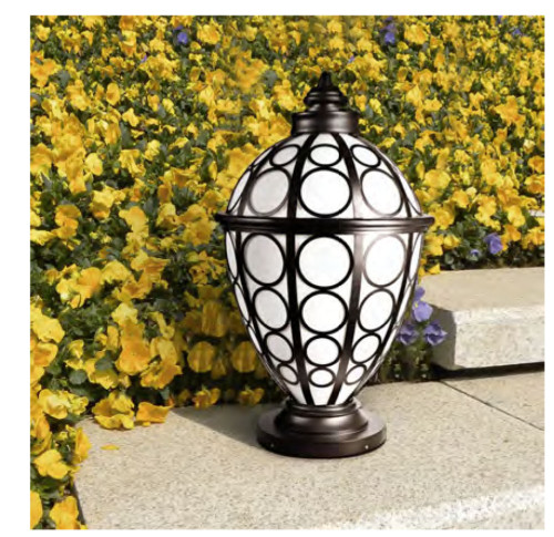 Lawn lamp bollard light lamp luminaire φ500*H850mm ring classic retro style villa aluminum/stainless steel SMD LED 3*8W CFL E27 23W/36W T5 3*14W imitation marble/PMMA WD-C402