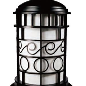 Lawn lamp bollard light luminaire φ483*H780mm classic retro style villa aluminum/stainless steel SMD LED 3*8W CFL E27 23W/36W T5 3*14W imitation marble/PMMA WD-C403