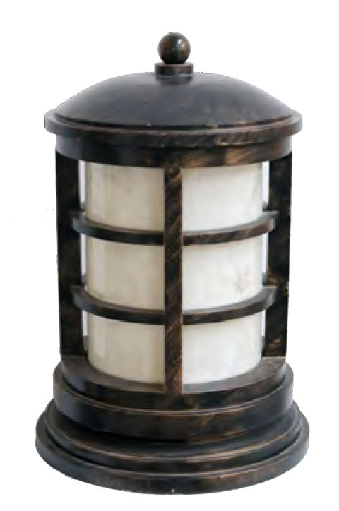 Bollard light Lawn light φ400*H760mm classical round cylinder style LED module 12W/18W/24W E27 24W aluminum/stainless steel+faux marble WD-C190