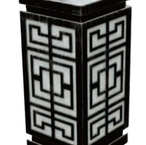 Lawn lamp bollard light W200*L200*H550mm aluminum+faux marble/PMMA SMD 3*8W E27 23W  Classical Style IP65 WD-C308