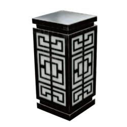 Lawn lamp bollard light W200*L200*H550mm aluminum+faux marble/PMMA SMD 3*8W E27 23W  Classical Style IP65 WD-C308