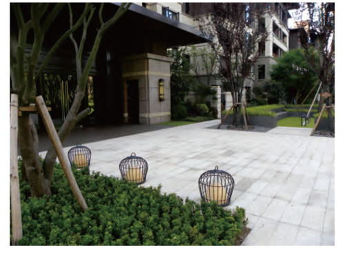 Lawn lamp Lantern bollard light hot-dip galvanizing steel/stainless steel  D490*H500mm faux marble/PMMA WD-C297