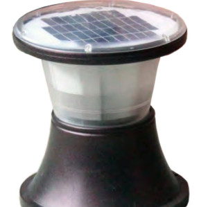 Lawn lamp solar energy solar system bollard light round circle head D328*H390 LED module 3W/9W/12W aluminum+PC WD-C522