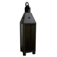 Bollard Light black LED module 3W/6W stainless steel+tempered glass lawn light W200*L200*H810 WD-C356