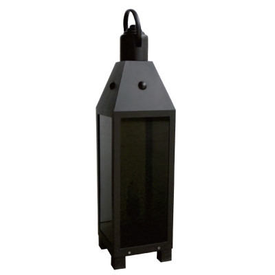 Bollard Light black LED module 3W/6W stainless steel+tempered glass lawn light W200*L200*H810 WD-C356