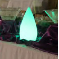 Candle light W160*H280 flower lamp LED module 3W/6W imported resin blue green purple red WD-C507