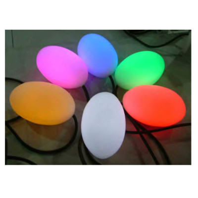 Lawn lamp ellipse light head oval egg head multiple colour H150mm LED Module 3W/6W imported resin WD-C509