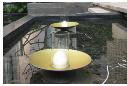 Lawn lamp bollard luminaire lotus light head modern  modern design faux marble aluminum LED Module 1~3W WD-B135