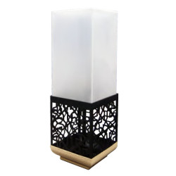Lawn lamp bollard light  hollow pattern faux marble LED Module 3W/6W outdoor custom lights WD-C511