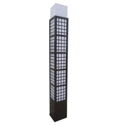 Landscape light grating decoration bollard lihgt W280*L280*H3000mm classice style cuboid