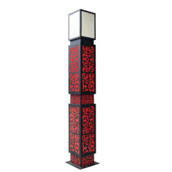 Landscape lamp street light W400*L400*H3000mm Red&black chinese classic style