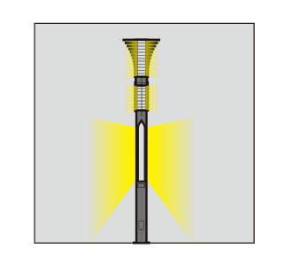 landscape light pole light light head and pole luminous layer style WD-T161