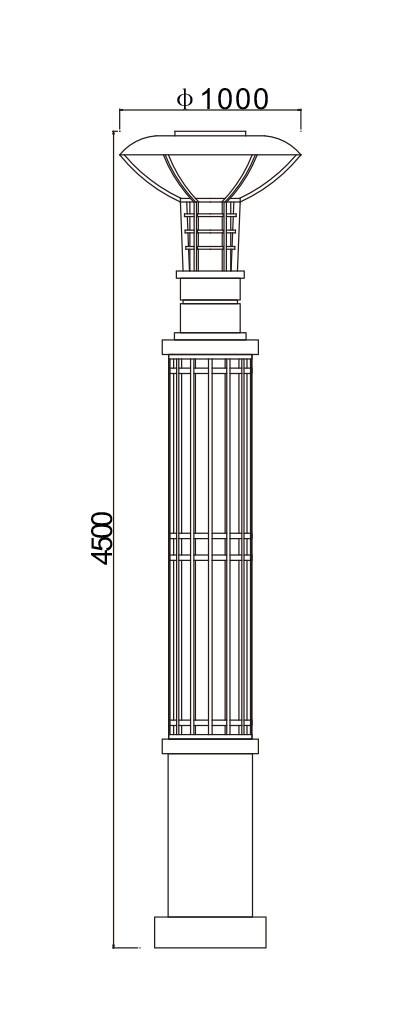 landscape light pole light garden lamp custom outdoor lighting light head & pole luminous WD-T533