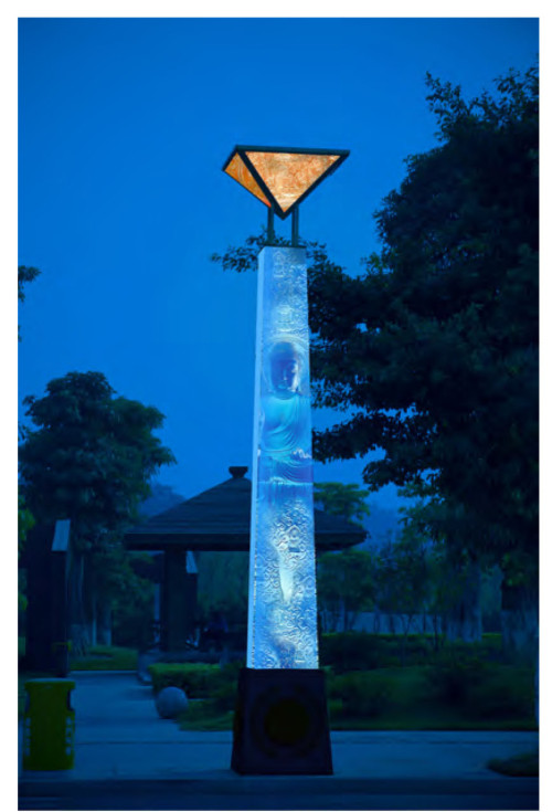 Landscape Light pole light whole column luminous custom outdoor lighting WD-T537