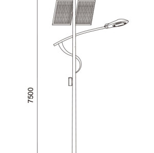 Wind-solar hybrid generator Street light