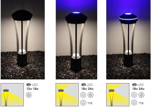Hot sale popular model bolalrd lihgt custom Lawn lamp WD-C227 Led module 6w/9w/12w Led module 3+6w/3+9w/3+12w