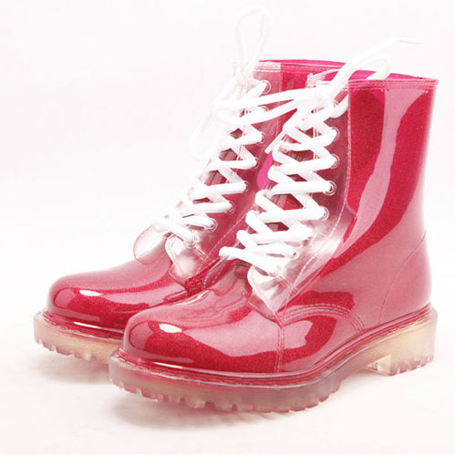 Hotsale Nice Durable Good Quality PVC Women Cheap Red Rain Boots ...