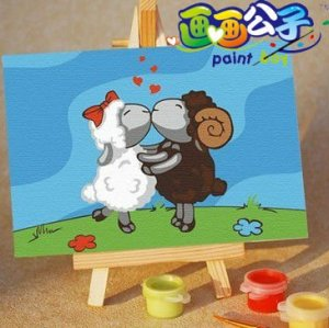 mini oil painting with easel hot selling craft gift coloring by numbers diy wholesale craft supplies