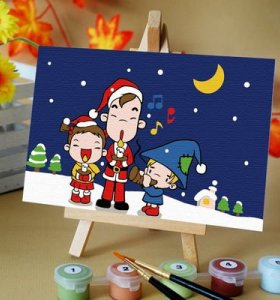 hot selling craft gift coloring by numbers diy wholesale craft supplies chindren oil painting set