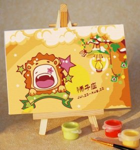New design diy oil canvas painting by numbers oil painting beginner kit with easel 10*15 cm