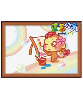 Painting for kids factory 10*15cm diy oil painting on canvas set acrylic painting set