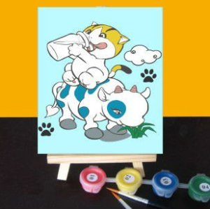 New Fashion Diy digital oil painting cartoon mini painting for beginners art suppliers