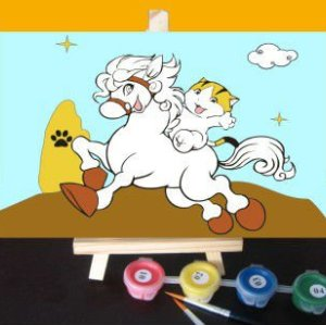 Canvas, Acrylic Paint,oil painting beginner kit running horse New fashion Paint sets for painting