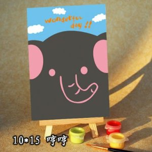 wholesales painting by numbers children cartoon mini easel canvas painting oil painting gift set