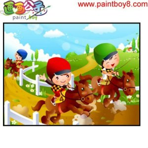 hot selling craft gift coloring by numbers cartoon horse diy wholesale craft supplies